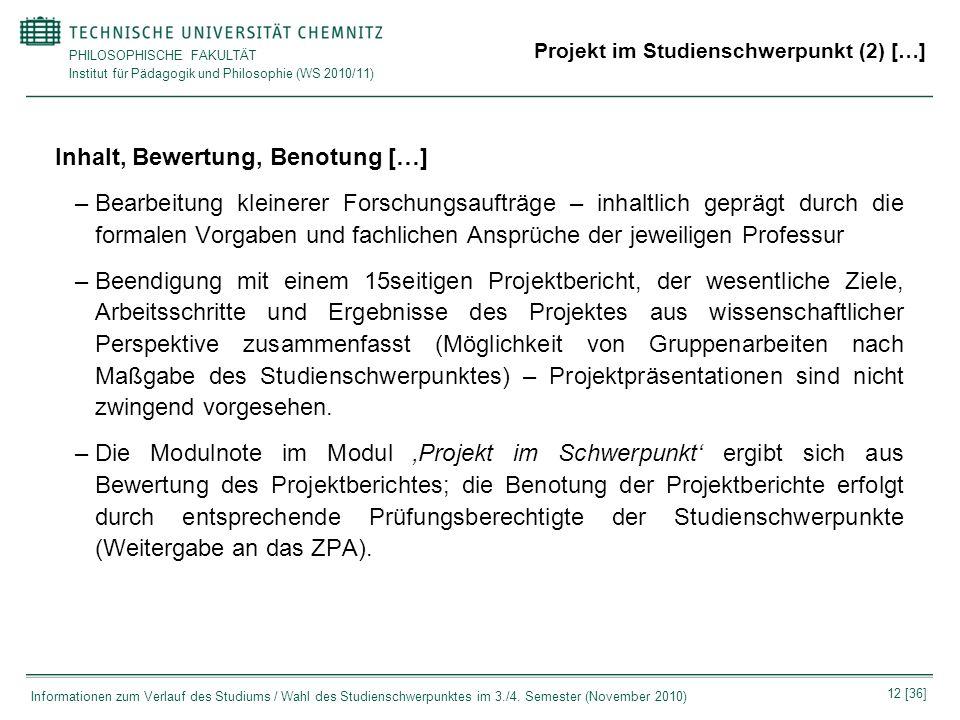 Projekt im Studienschwerpunkt (2) […]